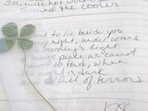picture of handwritten poem, like how this works